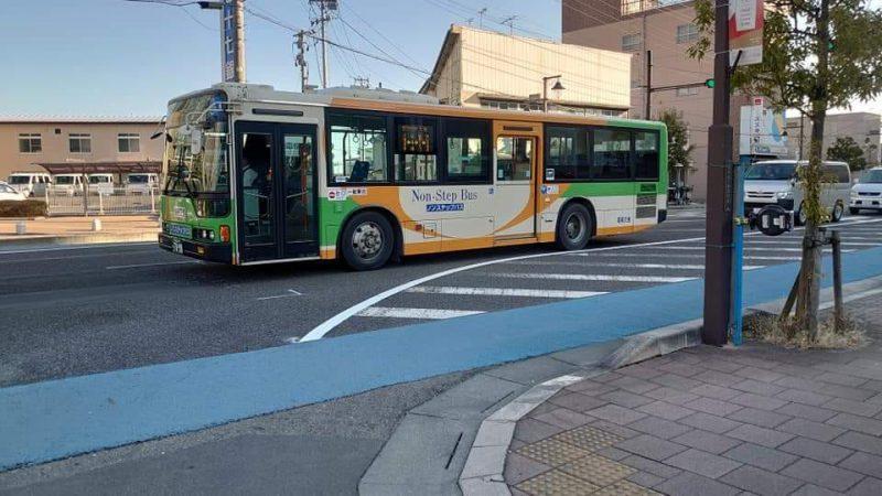 都営バスが桜通りを行く